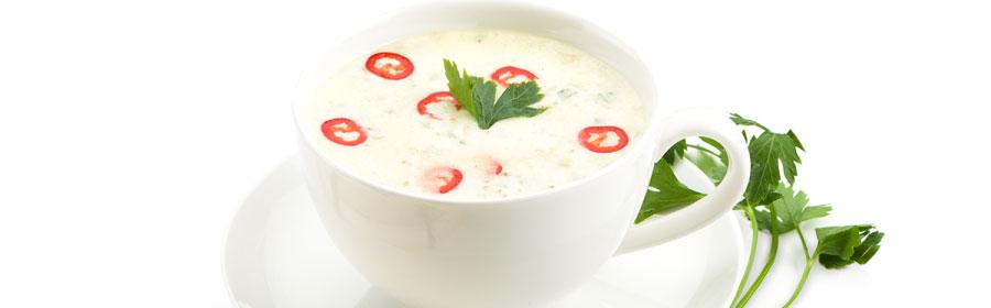Kip-curry soep met verse groenten proteinedieet Proday