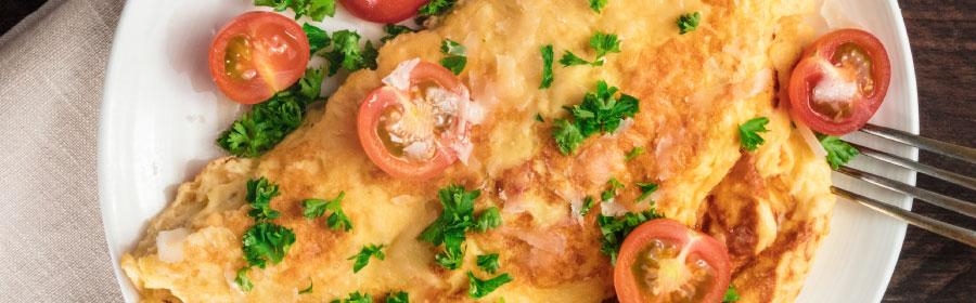 Omelet wrap met smeerkaas eiwitdieet Proday