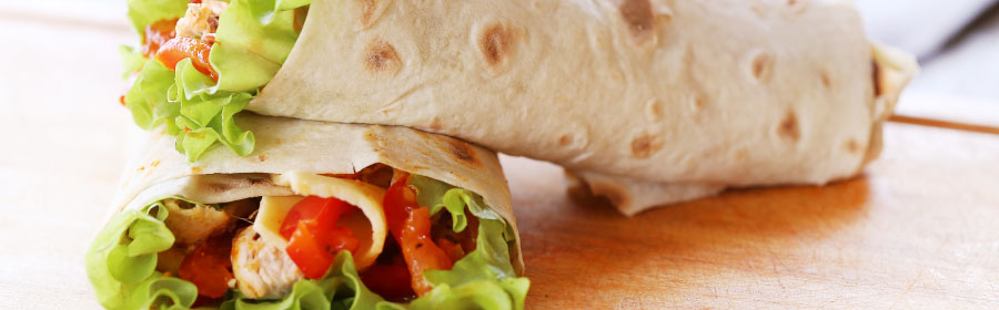 Mexicaanse Tortilla Wraps met kip Eiwitdieet Proday